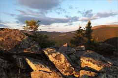 (Stones) (Kirill & K) Tags: sunset summer cloud mountain tree nature rock stone landscape boulders fir spruce        bashkiria   iremel    southernural