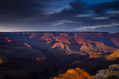 Shadows Play at the Grand Canyon (Vision & Light Photo) Tags: light sunset shadow arizona sky southwest color nature beauty clouds landscape outdoors photography landscapes photo nationalpark scenery dusk grandcanyon fineart scenic peaceful canyon illuminated photograph vista serene wilderness overlook cloudscape rugged southrim fineartphotography grandcanyonnationalpark hopipoint westernrim