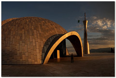 Mosque, Islamic center Rijeka, Croatia (aviana2) Tags: sunset minaret islam croatia wideangle mosque ramadan rijeka arhitecture islamiccenter sculptura aviana2 sonya7