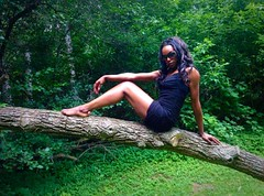 image (naddy_davis) Tags: trees green feet nature leaves sunglasses forest pose hair model toes legs fierce modeling branches trunk wardrobe fit londonontario littleblackdress blackdress uphigh forestcity