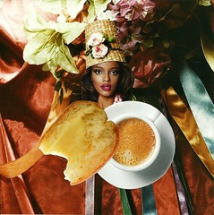breakfast (narghee-la) Tags: flowers woman flores art coffee caf hat fashion collage lady illustration breakfast magazine paper bread ribbons colorful pretty arte surrealism mulher revista bonito moda silk surreal style photomontage estilo papel colagem satin seda ilustrao po chapu colorido surrealismo fitas cetim fotomontagem cafdamanh