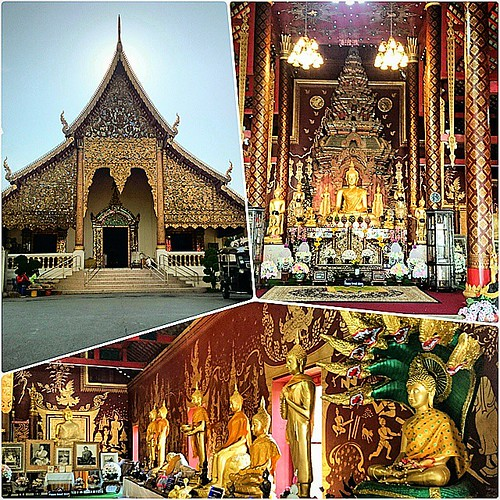 Temple number 1: #WatChiangMan They say this is one of the three most famous temples in #ChiangMai.
