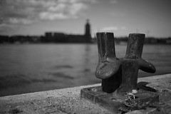 Stockholm City Hall (B&W) (Daniel Staaf Photography) Tags: bw sweden stockholm bokeh sony konica 40mm manualfocus hexanon 4018 a7r