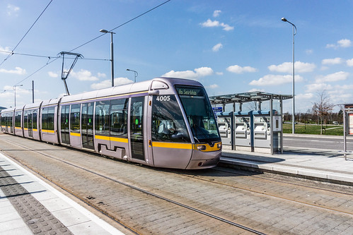LUAS TRAM STOP IN CITYWEST [APRIL 2015] REF-103235