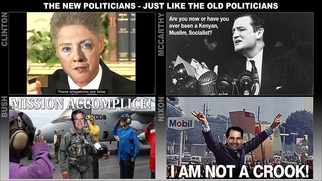 THE NEW POLITICIANS - JUST LIKE THE OLD POLITICIANS
