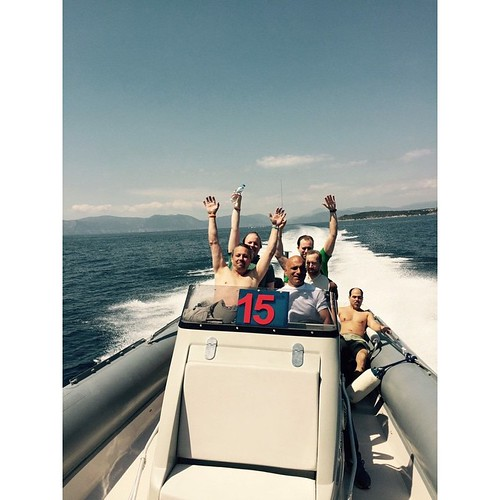 Happening now! #ribbing #boat #sea #sun #greece #summer