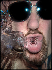 Underwater Selfee with the Olympus TG3 Tough. (CWhatPhotos) Tags: cwhatphotos camera photographs photograph pics pictures pic picture image images foto fotos photography artistic that have which contain olympus tough tg3 compact edited underwater under water self selfee blow blowing bubbles bubble sun glasses shades crazy why wear them beard goatee selfie selfies selfees flickr