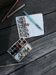 Pre-sketch sketch (andrewrust) Tags: watercolor sketch drawing richmond rva fieldnotes sketchkit urbansketcher