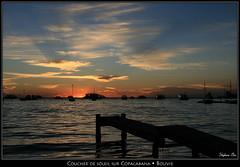 Coucher de soleil sur Copacabana (Bolivie) (HimalAnda) Tags: sunset sky lake titicaca clouds lago lac bolivia ciel nuages coucherdesoleil bolivie eos400d canoneos400d stéphanebon