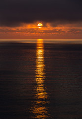 Early morning at sea (Per-Karlsson) Tags: morning sea sun reflection water night clouds sunrise gold dawn norwegiansea canoneos6d