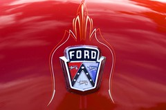 DSC_4840 (Joshishi) Tags: auto show red ford car emblem nikon df memorial day stadium badge hood hillsboro veterans 105mmf28dmicro