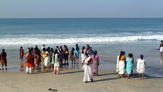 India - Kerala - Varkala - People At Beach - 82