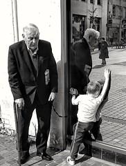 Generation Kinship (binghamtim1) Tags: blackandwhite reflection monochrome liverpool streetphotography mobilephotography sonyxperiaz3