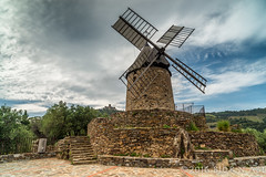 Moulin de Collioure (flowed_back) Tags: sky france tree mill zeiss landscapes nikon stones languedocroussilon leefilters zf2 distagont2821 lee06softgnd d800e leelandscapepolariser