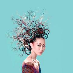 Concepta ('_ellen_') Tags: blue ireland portrait hair ellen contemporary branches style multicoloured clean vogue editorial mcdermott vogueireland