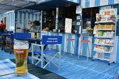 Ferdinando`s Beach bar,Positano.Italy (Amo535) Tags: italy beach beer peroni positano spiaggia amalfi icecold fornillo