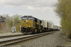 CSX Tr Q001 (glenn_cunningham) Tags: railroad usa chicago ny green trains line locomotive bergen csx