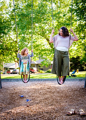 46 - I can do it too, Mommy! (TheBrownMike) Tags: seattle playground penelope swing wa ballard washingtonstate jovan