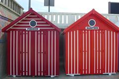 Beach huts (denismartin) Tags: france colour beach colors beachhut seashore nord merlimont colorandcolors pasdecalais cotedopale colorsoftheworld stellaplage denismartin hautdefrance