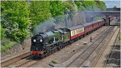 34052. 'The Peak Forester'. (Alan Burkwood) Tags: steam locomotive sr barrow rebuilt braunton bulleid westcountryclass 34046 34052 lorddowding peakforester londonkingscrossrowsley