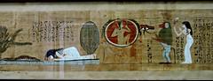 Papyrus of Ubekhet and Tadimut - Deir el-Bahri. Dynasty 21. - Cairo Museum Egypt (Amberinsea Photography) Tags: egypt cairo papyrus ancientegypt cairomuseum bookofthedead amberinseaphotography