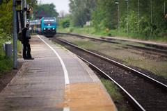 Late again... (dlerps) Tags: train germany de waiting sony platform sigma trainstation schleswigholstein friedrichstadt sigmaapo70200mmf28exdghsm lerps sonyalphadslr sonyalphaa77v daniellerps