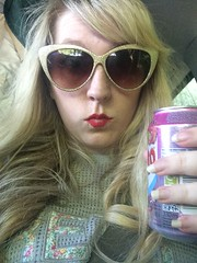 Vimto (Elysia in Wonderland) Tags: car sunglasses can pop soda fizzy elysia vimto