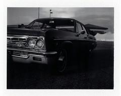 Kentwood, MI (moominsean) Tags: polaroid 190 instant fuji fp3000b michigan grandrapids midwest dusk chevrolet kentwood