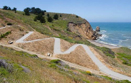 "Pacifica ""bike"" path (I suggest the road)"