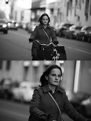 [La Mia Citt][Pedala] (Urca) Tags: portrait blackandwhite bw bike bicycle italia milano bn ciclista biancoenero mir bicicletta 2016 pedalare dittico 85590 nikondigitale ritrattostradale