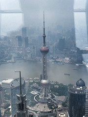 View from the SWFC Observatory (Daniel Brennwald) Tags: china shanghai pudong lujiazui orientalpearltvtower shanghaiworldfinancialcenter