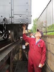 Paint Your Wagon (Tanllan) Tags: railroad light heritage wales wagon paint railway painters llanfair welshpool wllr