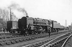 Golden Duke (4486Merlin) Tags: england bw europe unitedkingdom transport steam cumbria railways carlisle mpd gbr 12a ironduke 70014 exbr carlislekingmoor brstd7mtbritannia