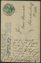 """Archiv G032 """"Unsere Zukunft liegt auf dem Wasser""""(back), """"Ist dies nicht schn anzusehen?"""", 1905 (Hans-Michael Tappen) Tags: vintage stamps postcard text ephemera 1905 1900s postkarte handschrift briefmarke poststempel 1900er archivhansmichaeltappen"""