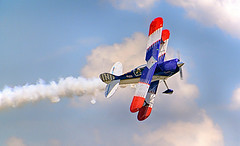 Wings Over the Rock (Just Joe ( I'm back...sort of )) Tags: blue red sky white colors festival clouds airplane outdoor aircraft woundedwarriors
