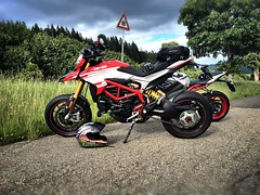 At the gate. (Lusty-Daisy) Tags: ducati schwarzwald hypermotard hypermotardsp hypermotard939sp supercorsasp