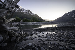 Seward Sunset (adam.veldhuizen) Tags: sunset mountains nature alaska river landscape sigma lodge snowcapped tranquil seward windsong