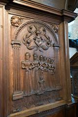 Religious carving in relief (quinet) Tags: sculpture church germany kirche carving relief glise stnicholaschurch schleswigholstein nikolaikirche 1636 2014 eckernfoerde schnitterei hansgudewerdt