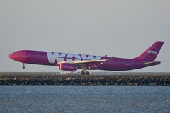 Wow Air Airbus A330 DSC_0341_edit (wbaiv) Tags: san francisco bay area international airport sfo day outdoor airplane aircraft airliner jet jetliner commercial passenger runway 28 summer evening wow air airbus a330 port profile portprofile d3200 vehicle turbine engine 2016 northern california sf flying machine plane side civil beacon strobe