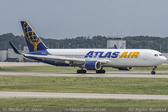 Atlas Air Boeing 767-375ER (N649GT) (Michael Davis Photography) Tags: airplane photography nashville aviation flight jet landing atlas boeing arrival runway airliner jetliner bna boeing767 atlasair b767 767300 nashvilletennessee kbna nashvilleairport n649gt