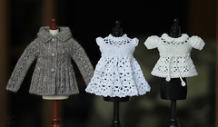 #99 (Ulanna) Tags: knitting dress handmade lace crochet blouse clothes blythe cardigan