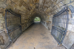 Light at the end of the tunnel (Digital Biology) Tags: tunnel fisheye hydepark london gate