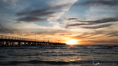 2016 - Landscape - Sunset - Largs - 04_13_02.jpg (stevenlazar) Tags: ocean sunset beach clouds waves jetty australia adelaide southaustralia largs 2016