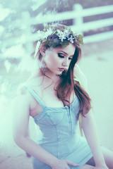 Caitlin (NatVon Photography) Tags: beautiful caitlyn denim dress girl model natvon sexy woman