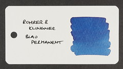 Rohrer & Klingner Blau Permanent - Word Card