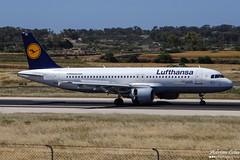 Lufthansa --- Airbus A320 --- D-AIZB (Drinu C) Tags: plane aircraft aviation sony airbus lufthansa dsc a320 mla lmml daizb hx100v adrianciliaphotography