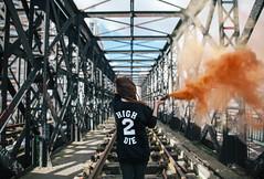 2 High 2 Die (ahtlaqdmm) Tags: urban colors girl lines high die smoke perspective bomb urbex symmety tealer