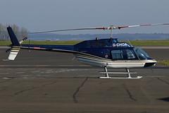G-CHOA BELL JET RANGER NEWCASTLE AIRPORT (toowoomba surfer) Tags: bell helicopter jetranger newcastleairport gchoa