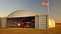 Hellmuths airplane hangar morning shot