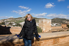 Faith At The Alhambra 2427 (casch52) Tags: travel family boy summer vacation people woman cute tower castle tourism childhood architecture female square mom happy kid spain europe child adult little outdoor famous sightseeing young mother lifestyle happiness son palace tourist andalucia arabic spanish parent together alhambra moorish granada historical leisure walls andalusia talking enjoying parenting touristic caucasian